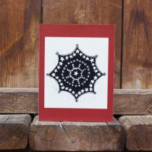 Card showing snowflake