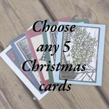 Choose any 5 Christmas/Winter cards