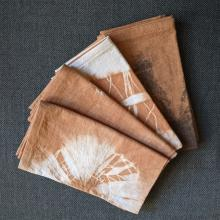Set of 4 avocado dyed napkins