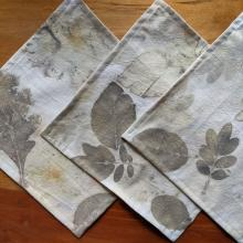 3 ecoprinted napkins