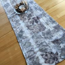 Ecoprinted table runner on dining room table
