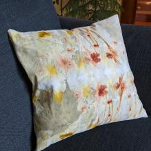 Ecoprinted cushion